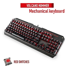 Modecom Volcano Hummer - Red LED Mechanical keyboard (red switches)